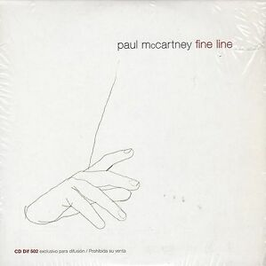 PAUL-MCCARTNEY-FINE-LINE-CD-SINGLE-ARGENTINA-PROMO-CARPETA-CARTON-BEATLES