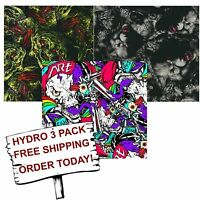 Hydrographic Film Water Transfer Printing Film Hydro Dip Fantasy Animal 3 Pack