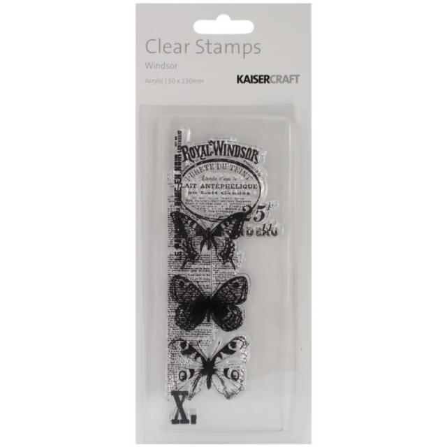 Windsor Texture Clear Stamp By Kaisercraft Butterfly Free Delivery CS880
