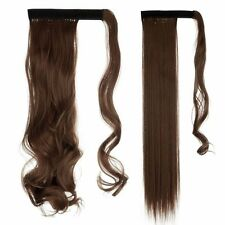 Item 1 Uk Real Thick Clip In As Human Hair Extensions Pony Tail Wrap On Ponytail Long