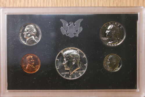 1968 1969 40/% Silver /& Clad Coins US Mint Proof Sets 5 Coin Sets in OGP