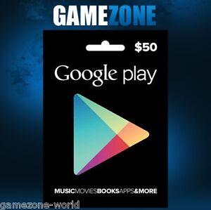 50 Google Play Usa Geschenkkarte