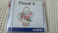 Rare Brother Embroidery Card Floral Number 2 Exc Condition Brand Sealed