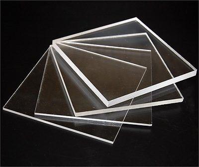 CLEAR  CAST ACRYLIC PERSPEX SHEET PLASTIC PLEXIGLASS CUSTOM PANELS 3MM TO 10MM