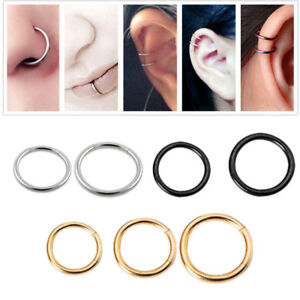 Septum-Clicker-Nose-Ear-Ring-Captive-Hinged-Segment-Stainless-Steel-Piercing-1pc
