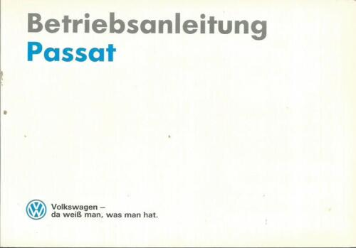 VW PASSAT b3 manuale di istruzioni 1990 MANUALE MANUALE bordo libro BA