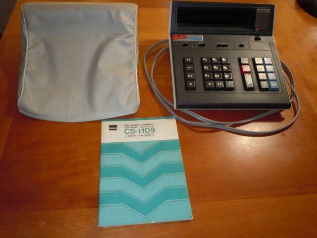 Vintage 1977 Sharp Compet Electronic Desktop Calculator CS-1109 Works Well EUC