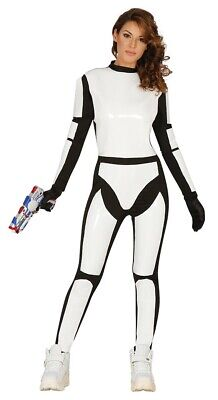 Blanc Homme Empire Trooper Costume Halloween Fancy Dress Outfit UK Tailles M//L