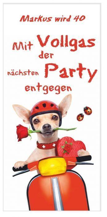Geburtstagseinladungen Hund lustig Tier Erwachsene dreißig vierzig fünfzig Karte | Genial Und Praktisch  | Realistisch