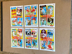Vintage 1986 Topps THE PETE ROSE Years 6 Card Complete SubSet Reds RARE NrMt/Mt