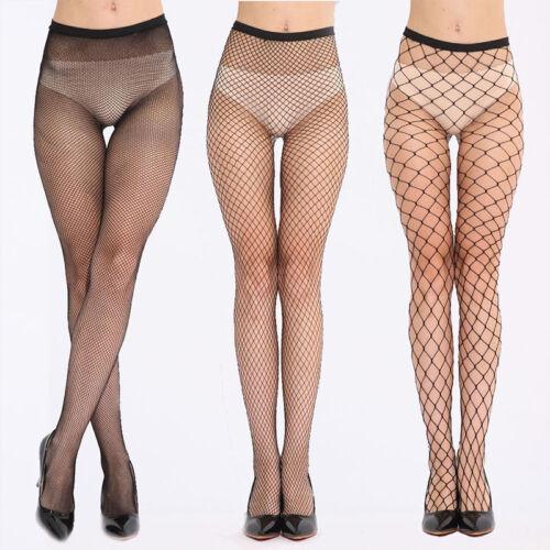 Women Ladies Fishnet Whale Net Pattern Burlesque Hoise Pantyhose Black Tights