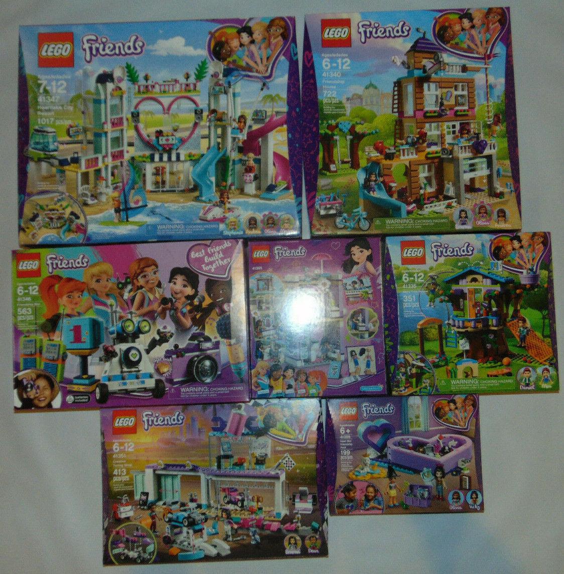 7) Lego Friends lot 41365 41359 41335 41346 41347 41340 41351 NEUF  USA Vendeur