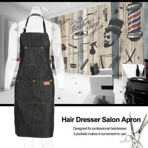 Pro-Salon-Barber-Hair-Cutting-Gown-Cape-Hairdresser-Hairdressing-Apron-JeanBlack