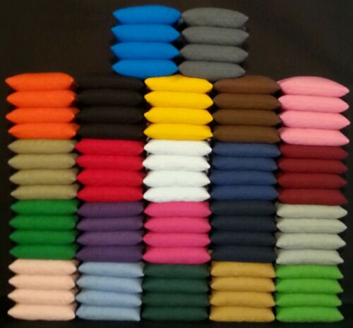 Cornhole Bags 2 Sets of 8 Pick Your Colors Duck Cloth Regulation Size /& Weight