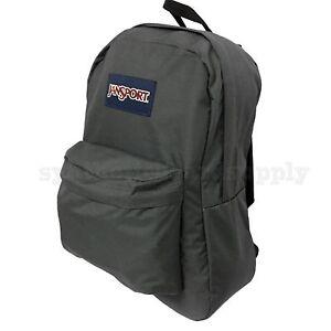 Image is loading JanSport-Superbreak-T501-25L-Backpack-Forge-Grey 3ff04f8a64f57