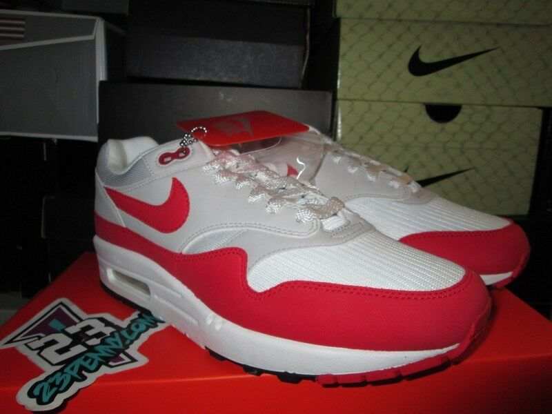 2018 AIR MAX 1 OG UNIVERSITY RED WHITE NEUTRAL GREY 908375 103 Price reduction Cheap and beautiful fashion