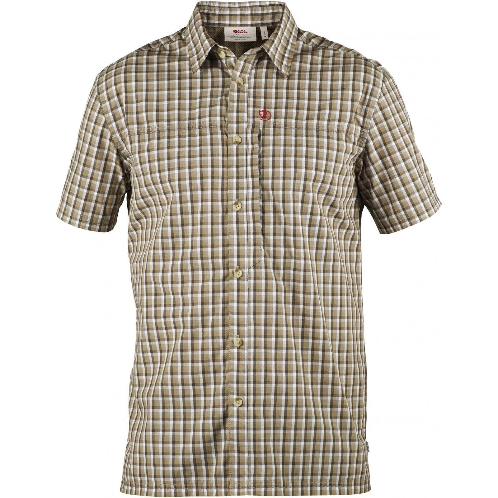 Fjäll Räven Svante Shirt Comfort, Short-Sleeved Men's  Shirt, Sand, Function S  store