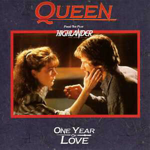 CD-SINGLE-QUEEN-One-year-of-love-FRANCE-2-track-CARD-SLEEVE