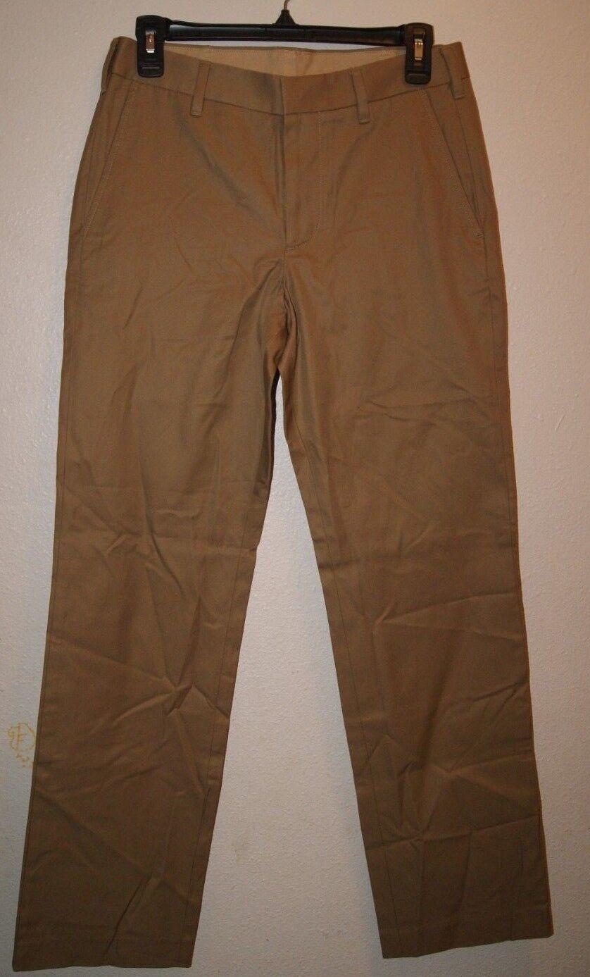 BONOBOS COTTON SUITING PANTS - KHAKI - STRAIGHT FIT - 28 32 - NEW