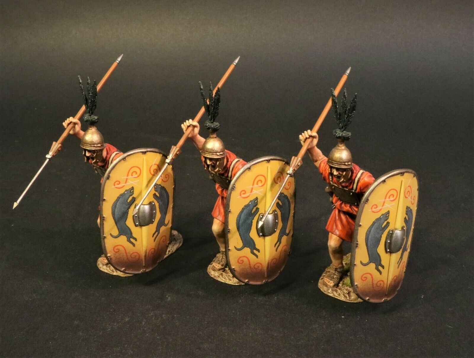 John Jenkins Romano Imperio Edad de Arthur HMRR-15YN 3 Hastatus Lanzando Pilums