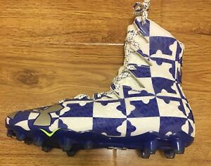 4fceeaaf9515 NEW Under Armour Highlight MC LE Blue White Lacrosse Football Cleats ...