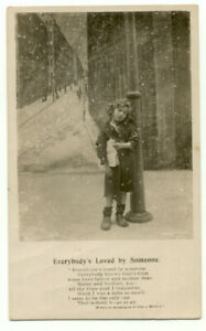 Everybody-039-s-Loved-By-Someone-Poem-Child-Early-1900s-Postcard