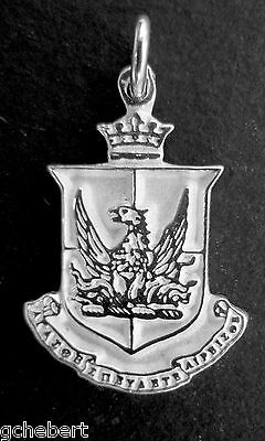 Alpha Sigma Alpha, ΑΣΑ, Crest Charm Large .925 Sterling Silver By McCartney