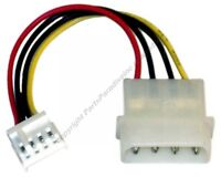 Lot100 6 Short Drive Molex Power Supply Adapter Cable,4pin Malefd/floppy Type