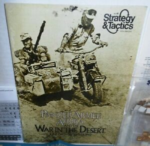 Strategy-amp-Tactics-Mag-w-Game-40-Panzer-Armee-Afrika-Punched-VERIFIED-COMPLETE