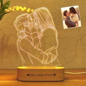 Lámpara 3d Personalizado Con Foto Y Texto Impreso Personalizado Regalo De Luz De Noche Ebay