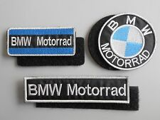 BMW MOTORRAD KIT 3 TOPPE PATCH RICAMATE CON nastro a strappo