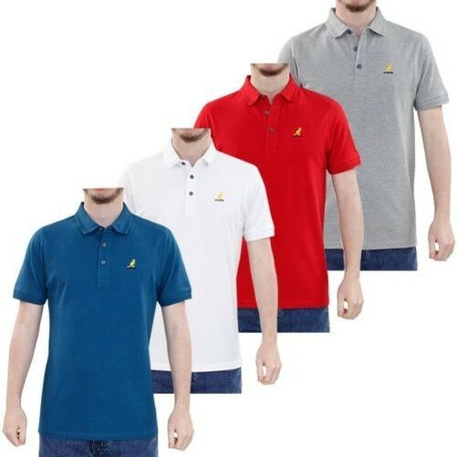 58ff5fae Kangol Mens Classic Polo Shirt Plain Top Sporty Striped Collar Branded Tee  Red L for sale online | eBay