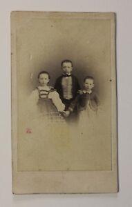 Bambini Francia Carte de visite Foto P48S3n43 Vintage Albumina c1860