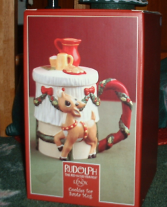 RUDOLPH THE RED-NOSED REINDEER COLLECTIBLE COOKIES FOR SANTA PLATE IN BOX