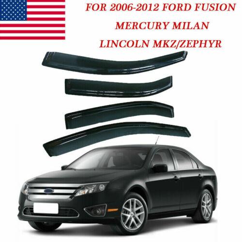 Window Visor Rain//Sun//Wind Guard Vent Shade For Ford Fusion 06 07 08 09 10 11 12
