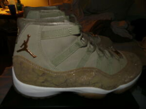 size 40 e4cb2 0c7a5 Details about Nike Air Jordan XI 11 Retro Heiress Olive Green 9.5Y 9.5 DS  NEW RARE 11 womens