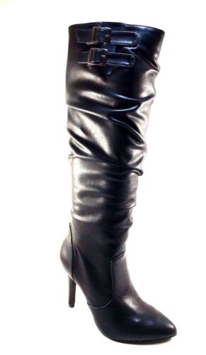 Breckelles Brandi-12 Pointy Slouchy Stiletto Knee High Boots Choose Sz//Color