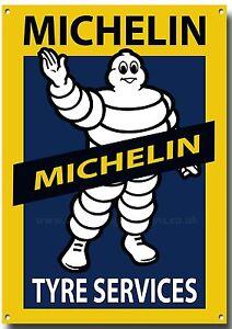 Bien Michelin Tyre Services Metal Sign, Rétro, Garage, Pneu , Anglais Pneu MatéRiaux De Choix