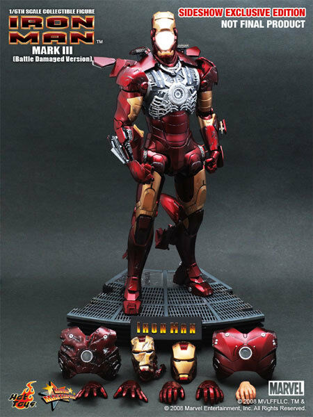 1 6 Hot Toys Exclusive 9005511 Iron Man Mark III 3 Battle Damaged Version NEW