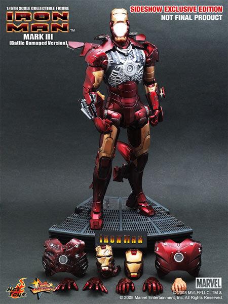 1 6 Hot Toys Exclusive 9005511 Iron Man Mark III 3 Battle Damaged Version NEW