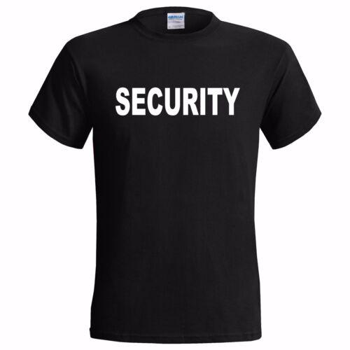 "/"" SECURITY /"" MENS T SHIRT DOORMAN PUB EVENT WORK GIG CONCERT FESTIVAL BOUNCER"