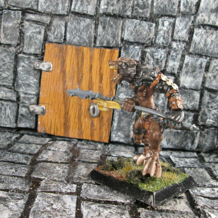 Painted Wolfen Hunter 2 Metal Confrontation Rackham Werewolf Miniature