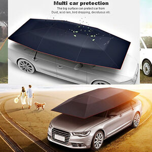 66356fc88ada Portable Semi-automatic Outdoor Car Umbrella Sunshade Roof Cover UV ...