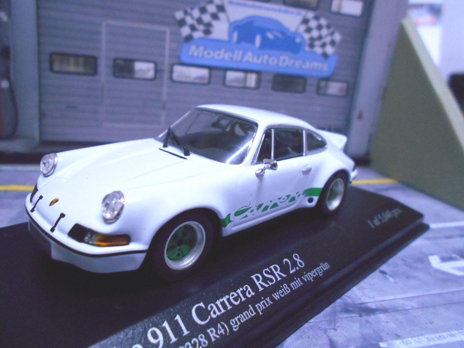 PORSCHE 911 Carrera RSR 2.8 F modello bianca  BIANCO VERDE 1973 Minichamps RAR 1:43