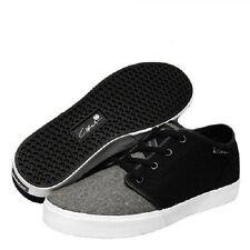 Circa DRIFTER Black White Gray Textile Casual Skate Sneakers Men's Shoes