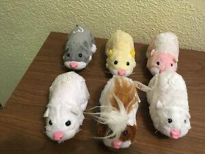 Six 2008 Zhu Zhu Pets Brinquedos De Pelucia Robotico Hamsters Pax Ebay