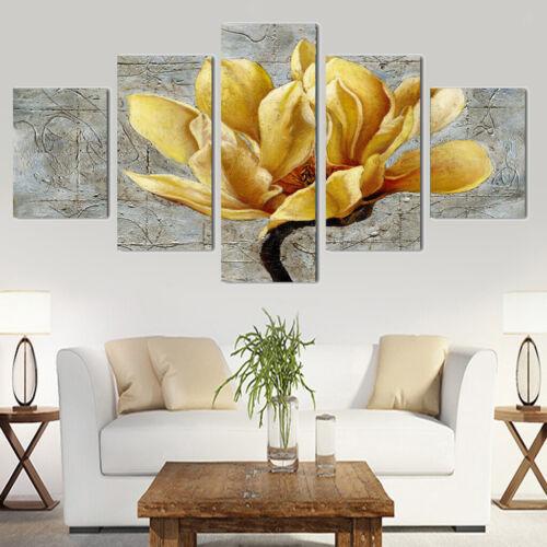 5 pannelli decorativi dipinti murali della tela di canapa di fai da te