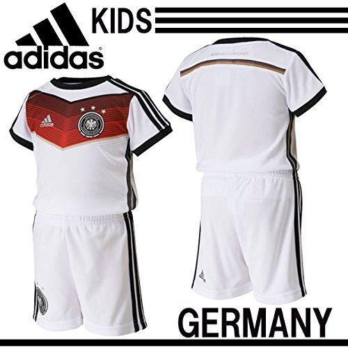 ADIDAS Germania Home Mini kit Neonato Bambino Climacool 4S Set Maglietta + SHORTS Boys