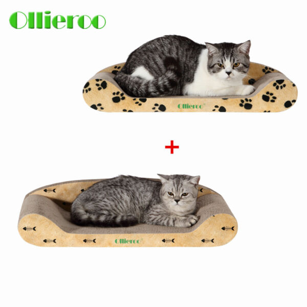 Ollieroo Curve Cat Scratching Pad Basics Collection Lounge Kitty