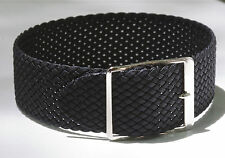 Black braided nylon vintage watch band 1960s/70s 17.3mm or 11/16 inches 3 sold